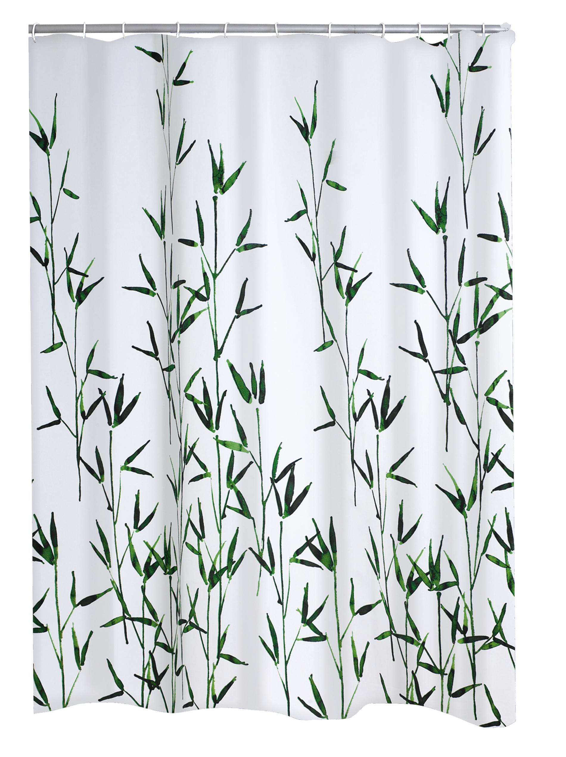 Ridder Duschvorhang Textil Bambus 180x200 Cm Grun Textilvorhang